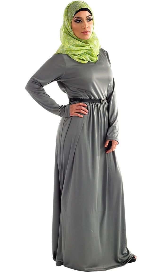 Classic fit Knit Abaya | East Essence | Abaya... I also may need to invest in this one .. they have hot pink #flashy #popColor
