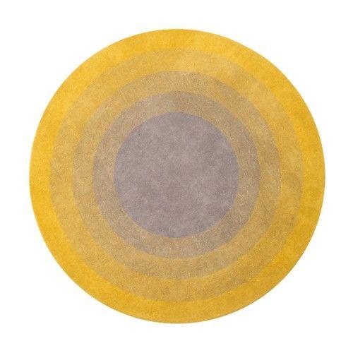 Yellow Fading Sun Rug