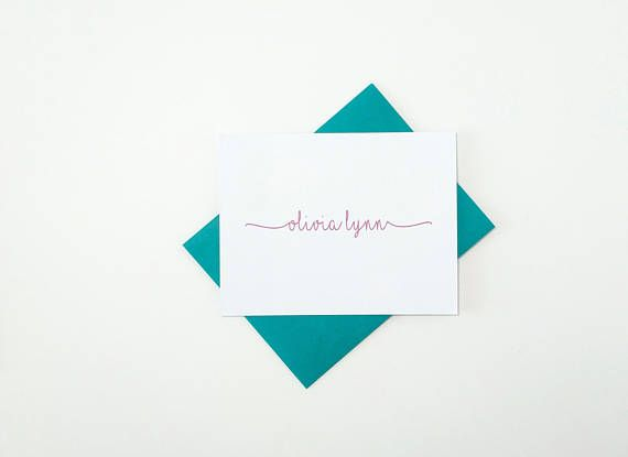 Personalized Stationery Set Note Cards Handmade Stationary