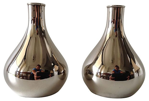 One Kings Lane - Mad for Midcentury - Teardrop Candleholders, Pair