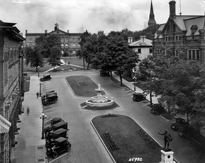 Court House Ave, Brockville ON  aeria view 1920 ca