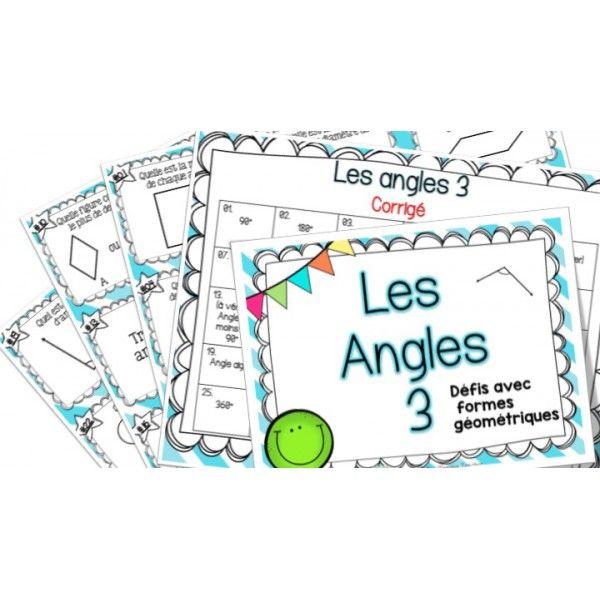 Les angles 3 - Défis - Cartes à tâches