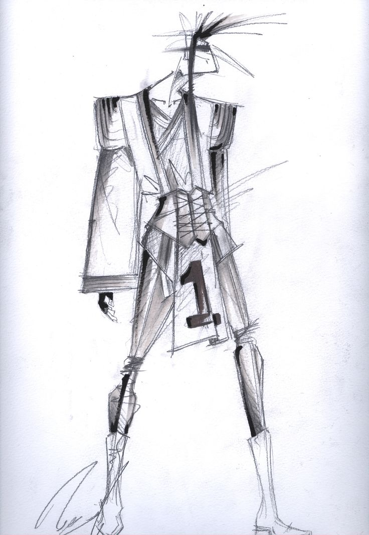 Samurai Dandy, Stage costume proposal by Dandy of the Grotesque