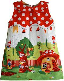 Fabrik der Träume: Kostenloses Schnittmuster für ein Kleid mit Peter-Pan-Kragen für Kleinkinder