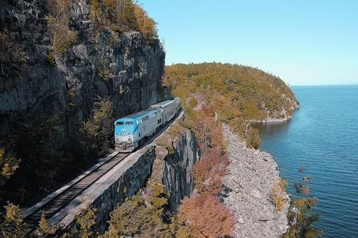 Amtrak's Adirondack train travels daily from New York City through the Hudson Valley into Montreal.