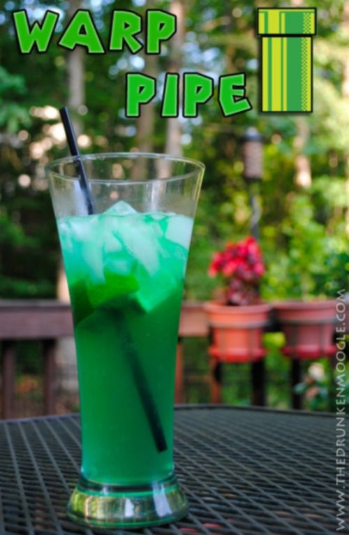 warp pipe and other video game inspired drinks