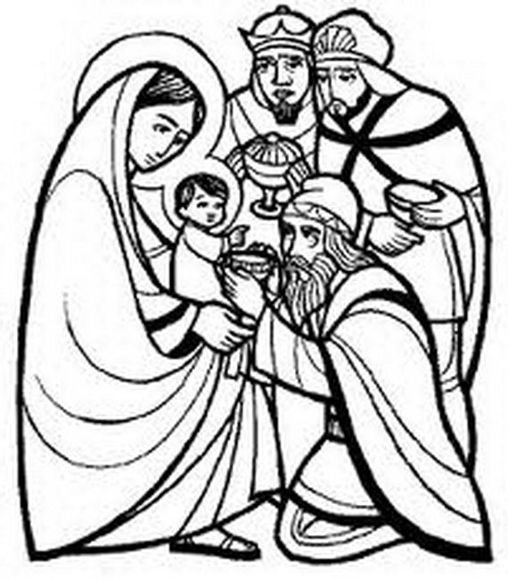 bible coloring pages wise men - photo#26