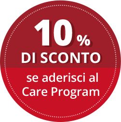 10% di sconto se aderisci al Care Program