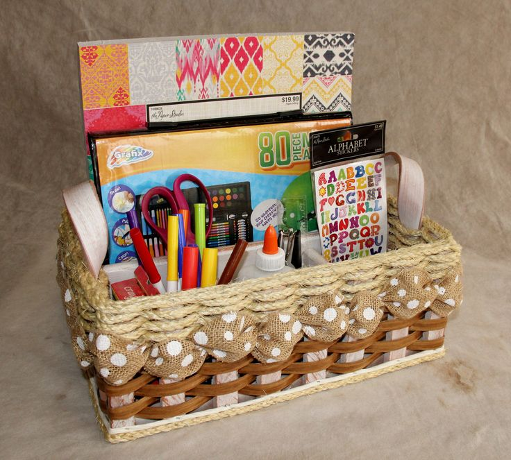 This basket is one of our most multi-functional baskets we offer, due to its size and dividers. It makes a great basket for hobbies such as scrapbooking, coloring, painting, drawing, or crafting. It could also make a great tool basket or cleaning supply basket! You can order it in different ribbons and different distressed mahogany such as white, black, or even turquoise. It comes with the matching distressed leather handles too! This basket is sure to become one of your favorites around…