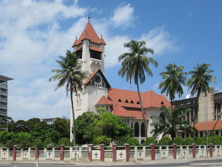 Azania Front Lutheran Church in Dar es Salaam, Tanzania, was built in 1898 by German missionaries.