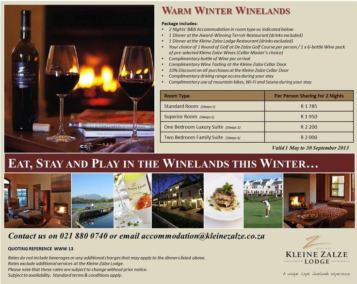 Winter Warmer in the Winelands