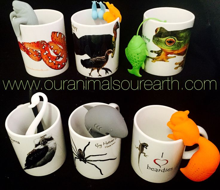 Mugs and tea infusers www.ouranimalsourearth.com