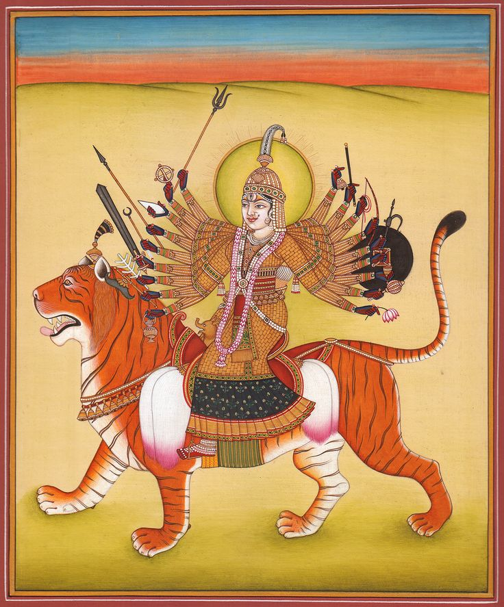 Ashtadasa-bhuja-Dhari Durga | Ma Durga | Pinterest