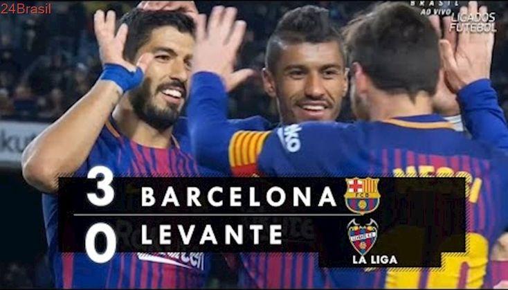 Barcelona 3 x 0 Levante - Melhores Momentos (HD) Campeonato Espanhol 07/01/2018