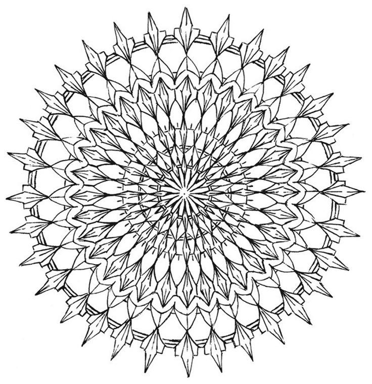 Mandala 577, Creative Haven Kaleidoscope Designs Coloring Book, Dover Publications