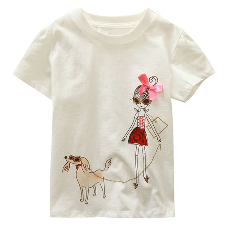Merek Anak 18M-6Y Bayi Laki-laki Perempuan T-Shirt Baru Musim Panas Lengan Pendek Tees anak Tops Pakaian Katun Kartun Pola Tshirt