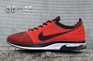 brand new b9159 6c6ed Mens Womens Nike Air Zoom Mariah Flyknit Racer Red Black White Running Shoes  Nike Racer,