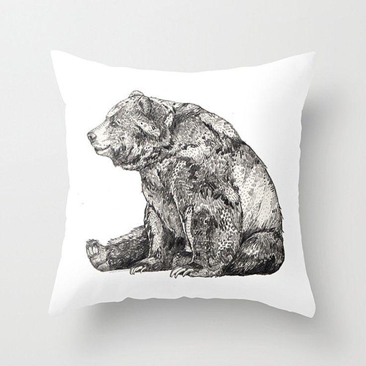 Relaxing Bear Pillow Cover