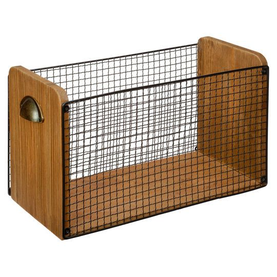 Buy the Large Metal Basket with Draw Handles By Ashland® at Michaels.com. Heap some warm pillows, blankets or throws in this fancy, rectangular basket by Ashland®.