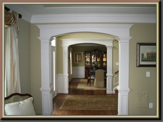12 best images about kitchen door casing ideas on for Decorative archway mouldings