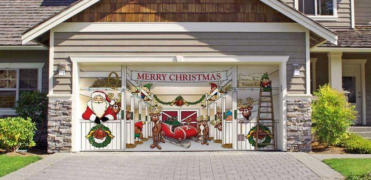 garage christmas decorations | 2008 Christmas Door Decorating Contest – YouTube