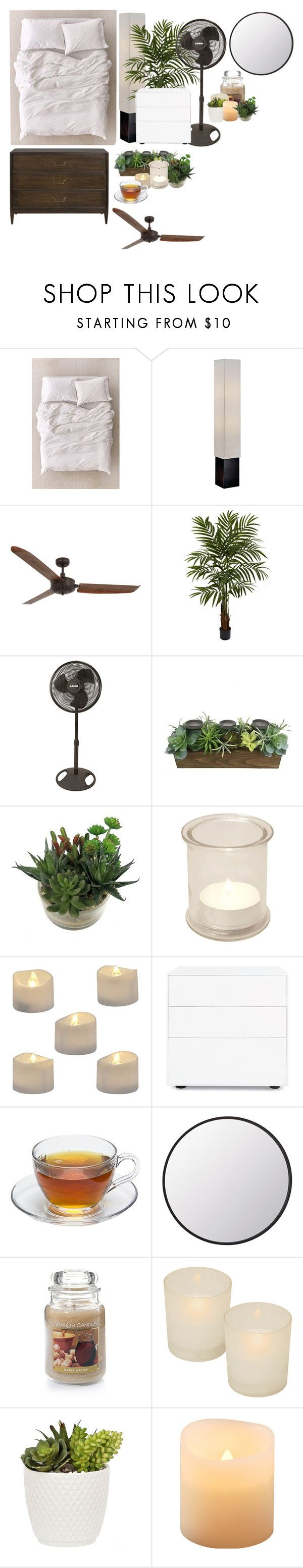 """""""Untitled #426"""" by dalyialashea on Polyvore featuring interior, interiors, interior design, home, home decor, interior decorating, Urban Outfitters, Lite Source, Lucci Air and Nearly Natural"""