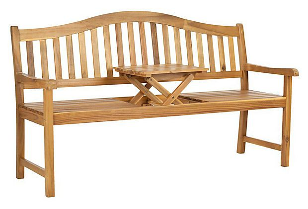 This bench is so cool. It's a table and a bench and table in one. Mischa Bench, Teak on OneKingsLane.com