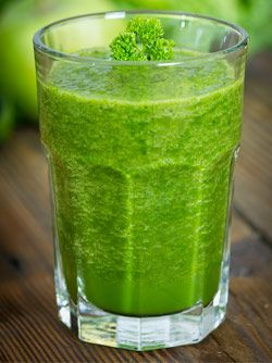 "Jugo Verde A green smoothie with a Mexican twist It cleans your colon and bloodstream, has loads of fibre, and also helps with weight loss."" 4 parsley sprigs 60g pineapple 4 celery stalks ½ c. orange juice 1 Nopal leaf"