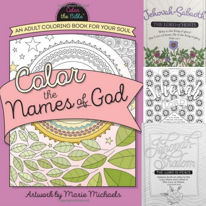 Coloring Book Color The Bible Names Of God Almighty Study Soul Artwork Page