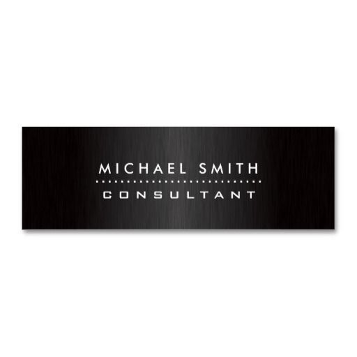 301 best simple elegant business cards images on pinterest professional elegant modern black brushed metal business cards accmission Image collections