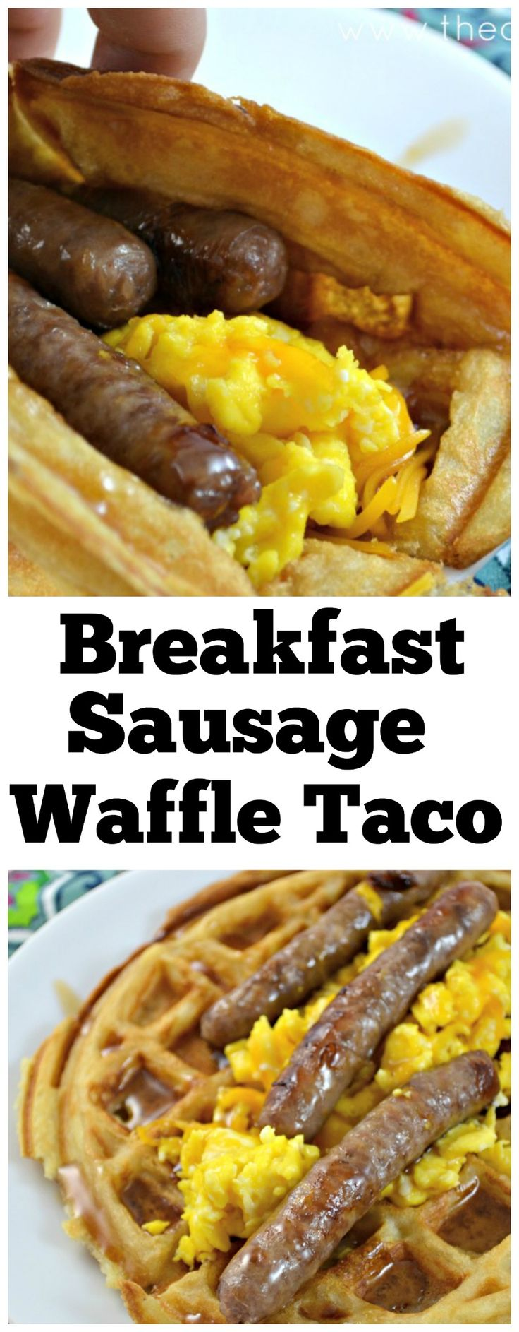 Learn how to make the perfect breakfast for dinner with easy sausage waffle tacos!