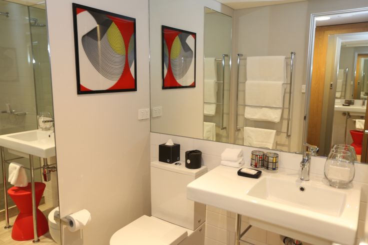 One of the bathrooms at the QT Canberra Junior Suite 906 #roomcritic #qtcanberra