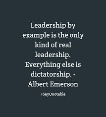 #leadership by example