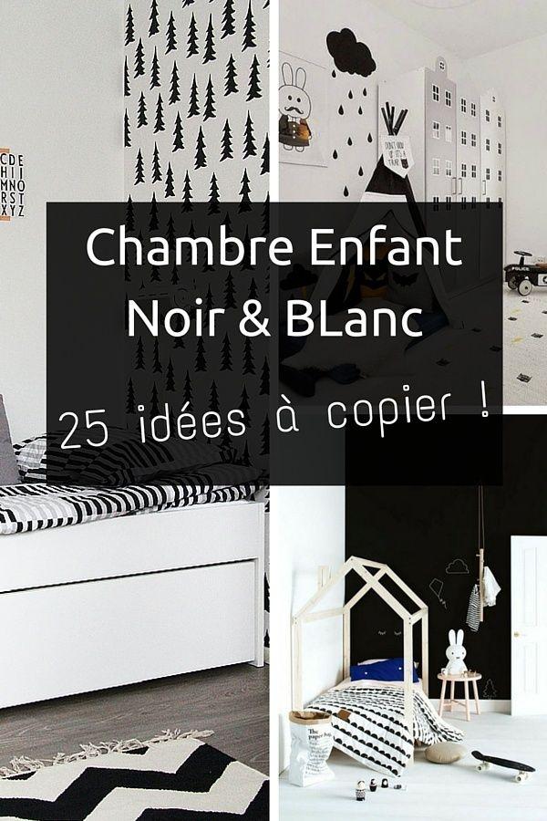63 best images about chambre enfant on pinterest - Chambre blanc et noir ...