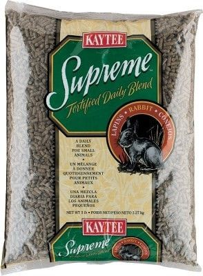 SMALL ANIMAL - FOOD - RABBIT PELLETS SUPREME 5# - - CENTRAL - KAYTEE PRODUCTS, INC - UPC: 71859015514 - DEPT: SMALL ANIMAL PRODUCTS