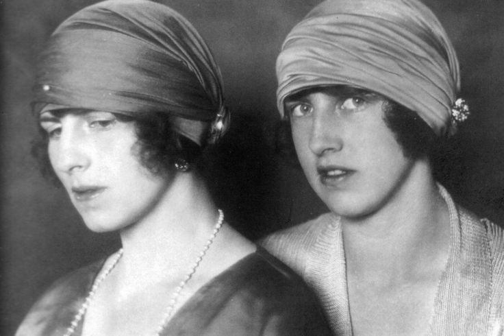 Crownprincess Helena of Romania and sister Pss Irene of Greece. 1920s.