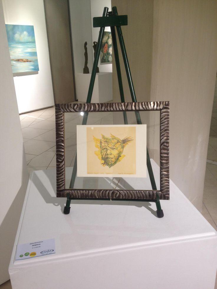 Unisa Art Gallery - CANSA Art Exhibition - Artwork by Aleta Michaletos - Photograph by Megan Erasmus