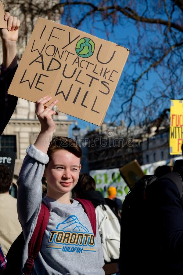 School Strike For Climate Change Stock Photo Aff Climate Strike School Protest Signs Climate Change Save Earth