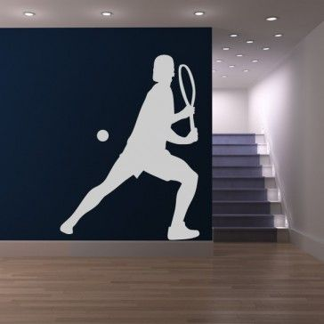 Serve Tennis Mens Wall Sticker Sports And Hobbies Wall Art Decal - Sports & Hobbies