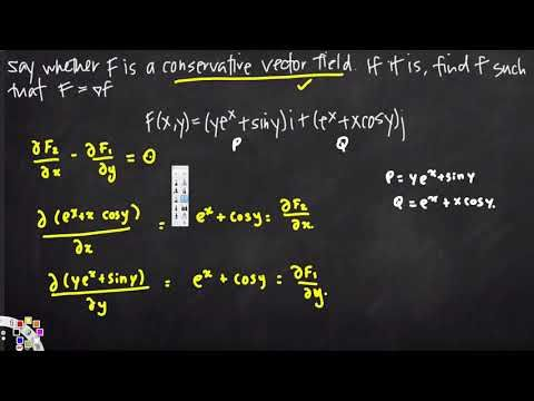 potential function of a conservative vector field   Vector Calculus