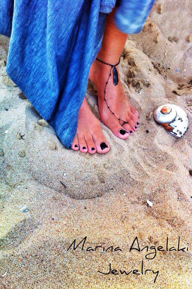 Bare foot bracelet http://instagram.com/marinaangelakijewelry