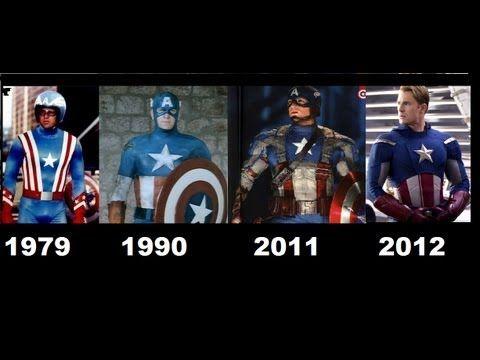 Captain America Movies. 1944-1979-1990-2011-2012 [Compilation movies]-Capitan America - YouTube
