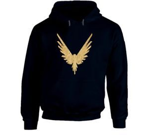 Maverick Bird Gold Logo Logan Paul Navy Hoodie From Us 100% Cotton