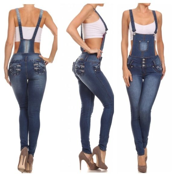 Jeans jumper sizes 1-15 Booty lifting jeans jumper with adjustable straps. Pair it with a cop sweater or tee for a great fall/winter look Silver diva  Jeans Overalls