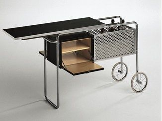 Steel and wood bar cabinet with casters AR1 - MisuraEmme