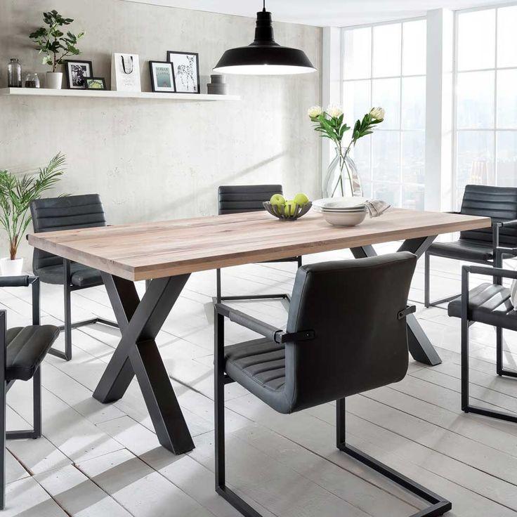 die besten 25 tisch eiche massiv ideen auf pinterest treibholz tisch gadrobe und garderobe eiche. Black Bedroom Furniture Sets. Home Design Ideas