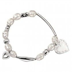 Pearl and Silver Charm Bracelet #silver #jewellery #modern #bride