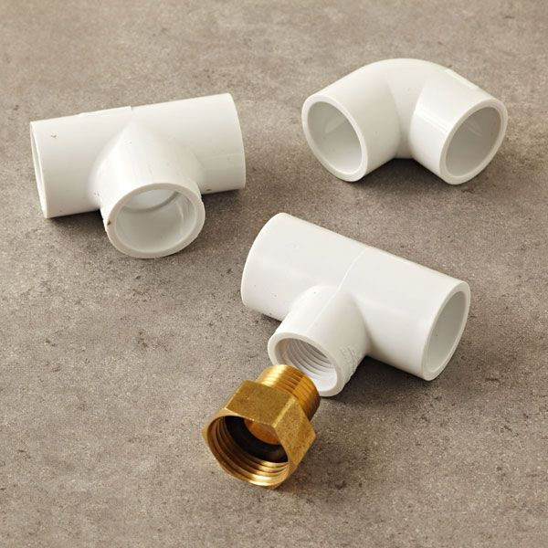PVC fittings for sprinker instructions from Lowes