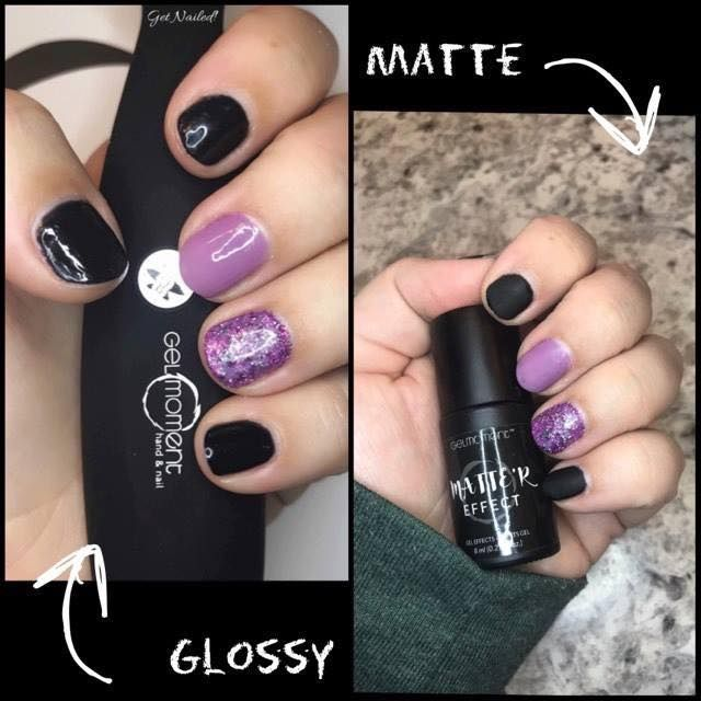 Gelmoment Gloss Vs Matte R Acrylic Nails At Home Loose Glitter Get Nails