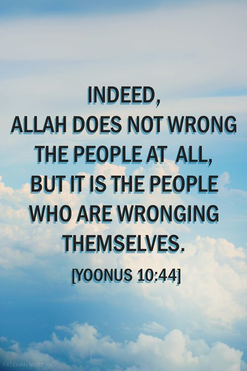 Allah does not wrong the people